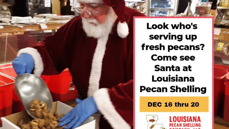 Santa Claus is coming to Louisiana Pecan Shelling
