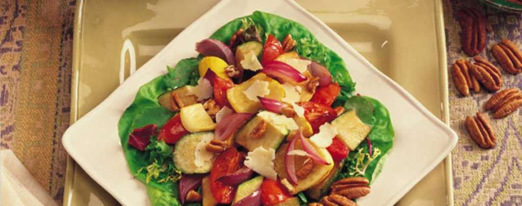 Roasted Vegetable and Pecan Salad